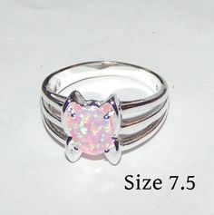 Pink Fire Opal Fashion Ring Free Shipping $16.00