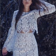 2016 NWOT FOR LOVE AND LEMONS BELL SLEEVE VIKA TOP NWOT FOR LOVE AND LEMONS 2016 VIKA BELL SLEEVE TOP SIZE XS EASILY FITS S, IN STORES FOR $168.00 PLUS TAX AND SHIPPING. BEST DEAL YOULL FIND. PLEASE KNOW THAT THE TOP IS NOT PADDED OR LINED SO YOU WILL NEED A WHITE OR NUDE BRA. SIMPLY BREATHING AND GORGEOUS. •••NOT RUSH TO SELL BUT IM PRICING IT LOW TO SELL FAST••• For Love and Lemons Bags Backpacks