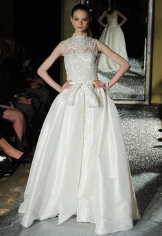 Oleg Cassini Wedding Dresses Fall 2015 | Maria Valentino/MCV Photo | blog.theknot.com
