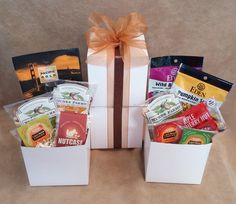 e73503511e822 Autumn Mini Snack Tower - send some cheer with snack sized paleo goodies  including almonds