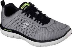 Skechers Men's Flex Advantage 2.0 Training Shoe Light Gray/Black Size 12 W