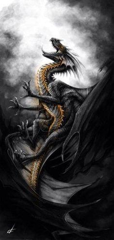 Dragon noir et or .!
