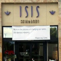 Even though Isis, the Egyptian goddess, and Isis the terrorist group have nothing in common, this is still funny!