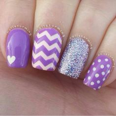 Beautiful nail art designs that are just too cute to resist. It's time to try out something new with your nail art. Sparkle Nails, Fancy Nails, Love Nails, Glitter Nails, My Nails, Heart Nails, Jamberry Nails, Nail Art Cute, Easy Nail Art