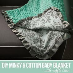 DIY Tutorial: DIY Baby Blankets / DIY Sew a Minky and Cotton Blanket - Bead&Cord
