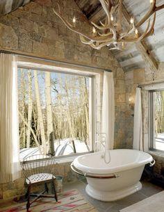 Amazing Rustic Natural Bathrooms (2)