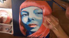 Strawberry Chitose - Acrylic Portrait (Paola March) (+playlist)