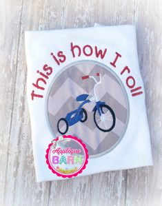 Tricycle Bike design Bike applique