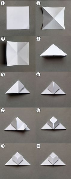 Origami bookmark -step by step