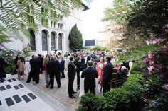 Shannon Leahy Events - San Francisco Wedding - James Leary Flood Mansion - Outdoor Reception - Wedding Guests