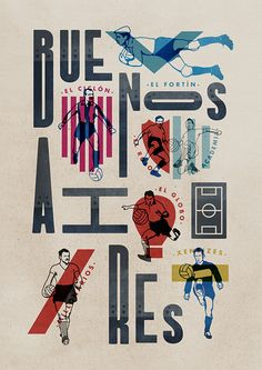 Illustrations and Typography by Jorge Lawerta | Inspiration Grid | Design Inspiration in Type