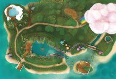 """CARPETO : """"Lagon Féerique"""" - Illustration 180x120 cm, réalisée par Vincent Subréchicot - #tapis, #jeux, #enfants"""