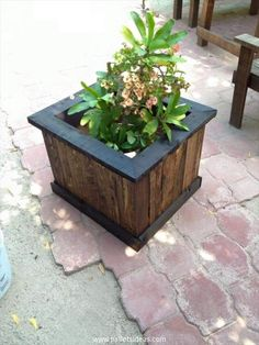 Pallet Planter Box Plans | Recycled Pallet Ideas