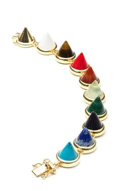 Gemstone Cone Bracelet by Eddie Borgo Now Available on Moda Operandi