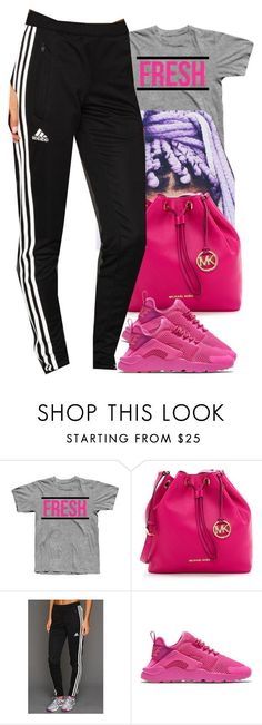 """Untitled #413"" by christianna-futrell ❤ liked on Polyvore featuring MICHAEL Michael Kors, adidas and NIKE"