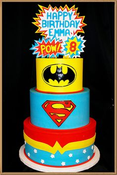 superhero birthday cakes - Google Search