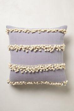 Pom pom tassel pillow. Love.