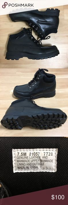 9acf478495a Genuine Leather and Manmade Upper • Manmade Lining   Outsole • Size  Men s  7.5