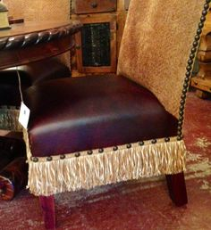 Calamity Janes Trading Co., Boerne, TX  Dining room chair nailhead detail