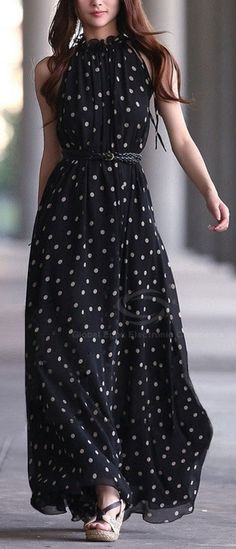 Polka dot maxi Rose #fashion #trends #style #fashiontrends