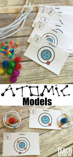 Models Hands-on Chemistry lesson: Building atomic models- great for teaching the periodic table. STEM science via Chemistry lesson: Building atomic models- great for teaching the periodic table. STEM science via Chemistry For Kids, Chemistry Classroom, High School Chemistry, Chemistry Lessons, Teaching Chemistry, Science Chemistry, Stem Science, Middle School Science, Elementary Science