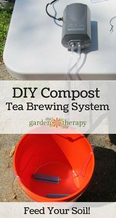 Make Compost Tea With This DIY Home Brewer Organic Gardening, Gardening Tips, Vegetable Gardening, Koi, Compost Tea Brewer, Aquaponique Diy, Patio Layout, Garden Compost, Aquaponics System