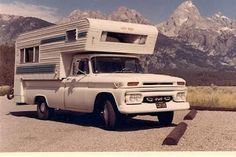 the slide-in camper - watched 'To Sir With Love' at the drive-in in one of these!