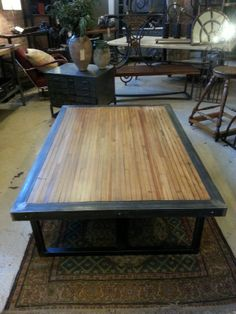Beautiful Reclaimed Bowling Alley Table Top #reclaimedlumber #tabletop #hoffmanlumber