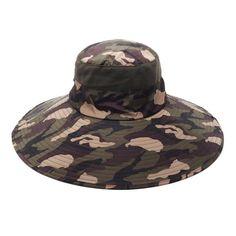 252cdc55d01 Men Women Cotton Camouflage Foldable Round Hat Outdoor Breathable Mesh Bucket  Cap Fisherman Hats
