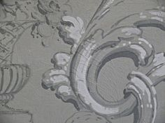 Demeures Peintes: step by step Faux Painting Techniques, Art Techniques, Wall Paint Treatments, Decoration, Art Decor, Grisaille, Annie Sloan Chalk Paint, Cool Walls, Wall Murals