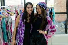 Me getting styled with Anna Coroneo and her fabu scarves