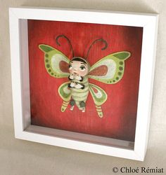 "framework ""Green and Red Butterfly"""