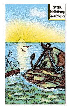 Kipperkarte: Die Hoffnung – astrozeit24 Cards, Painting, Tarot Cards, Spiritual, Faith, Fantasy, Horoscope, Water, Painting Art