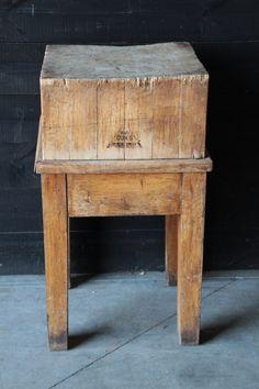 butcher block new arrivals european antique warehouse - Antique End Tables Value