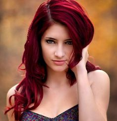 intense red angled bob - Google Search