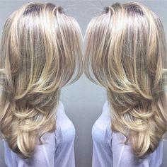 Icy Platinum Blonde  @kristinameihair #wellahair #wellalife #sebastianwna #modernsalon #cosmoprof #behindthechair #blonde #platniumblonde #iceblonde #balayage #hairstyle #olaplex #blondor #ottawa #613 #ottawahair by allurehairdesignandspa
