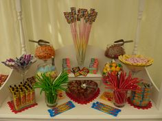 Retro Birthday Candy Cart