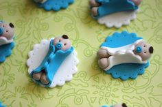Whimsical Boy Baby Shower Fondant Toppers Perfect by LesPopSweets, $19.99