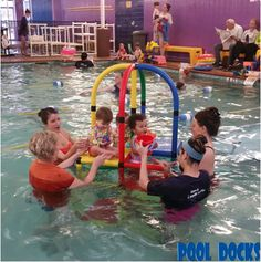 PoolDocks Swim Training Pool Platforms help to teach tots and toddlers how to build confidence and overcome fear of water.