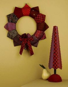 Christmas decoration from neckties (picture only)