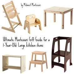 Ultimate Montessori Gift Guide for a 1-Year- Old: Large kitchen items (by Midwest Montessori)