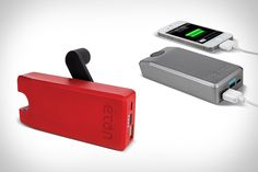 Your phone will never lose power again. Charge it by cranking the Eton Boost Turbine.