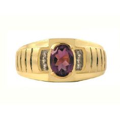 Diamond & Amethyst Yellow Gold Ring For Men Gemologica.com. Xmas Gift guide, Gift Ideas For Him, Her, and Kids. Great Christmas Stocking Stuffer Ideas. Give jewellery presents to girlfriends, boyfriends, children, men, women from the Gemologica Jewelry Store. Unique Gifts, Personalized Gifts, Gift Finder @ gemologica.com *Enter Discount COUPON CODE PINHOLIDAY At Checkout For 15% Off Your Entire Order Through Xmas*