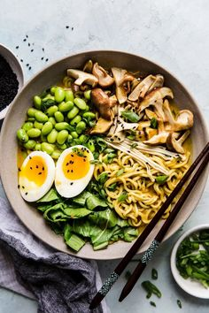 Using just one pot and (instant!) ramen noodles—just the noodles, toss that sodium-bomb flavor packet—makes this vegetarian coconut curry ramen a quick and easy dinner.