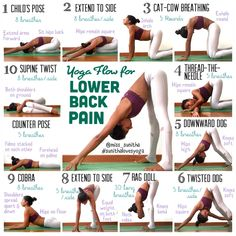 Yoga poses for lower back pain Check my Instagram account @miss_sunitha for details and cues on the poses. #sunithalovesyoga