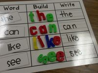 Image result for sight word word activity