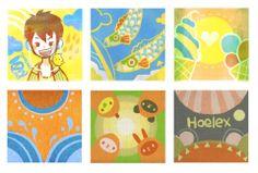 ★【HC CG動漫插畫】Painter繪圖 HOELEX夏日版畫卡片  越來越熱了~我們什麼時候約時間去吃冰?