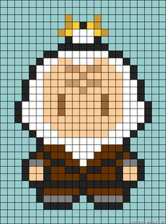 Iroh Avatar TLA perler bead pattern ...or maybe a cross stitch???