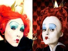 queen of hearts makeup ideas   The QUEEN OF HEARTS - Alice In Wonderland Make-Up - I'm only pinning ...