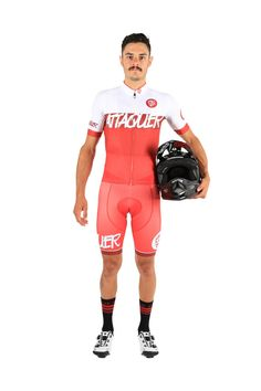 Season 4 Bandit red Cycling Kit by Attaquer